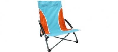 Abbey Camp Strandstoel.Strandstoel Laag Stoelen Stoel Lichtblauw Oranje Wit Blo