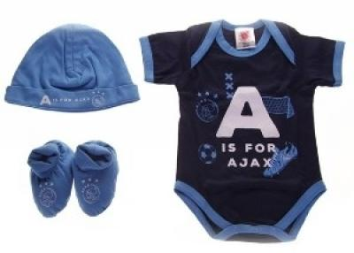 Baby set Ajax 3-pack blauw A is for Ajax 50/56