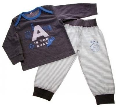 Baby pyjama Ajax blauw A is for Ajax