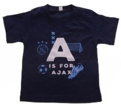 Baby t-shirt Ajax blauw A is for Ajax