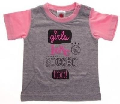 Baby t-shirt Ajax roze girls love soccer