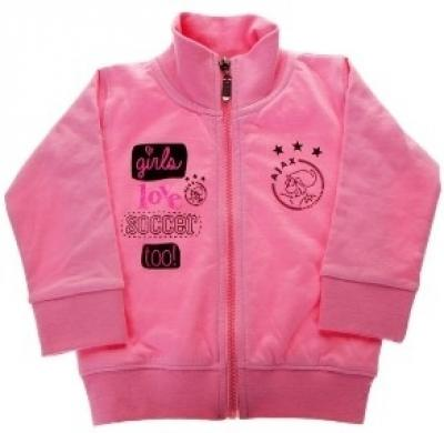 Baby sweatvest Ajax roze girls love soccer 62/68