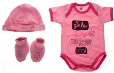 Baby set Ajax 3-pack roze girls love soccer 50-56
