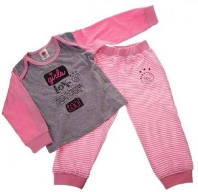 Baby pyjama Ajax roze girls love soccer