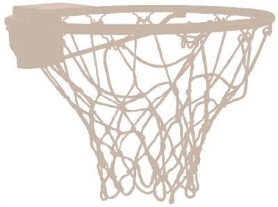 Basketbalring compleet met net ring 20mm
