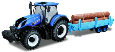 46079-NEW HOLLAND T7.315 TRAC + TRAILER (1:32)