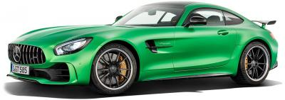 50359-ALMOST REAL Mercedes Benz AMG GT R 2017 GROEN (1:18) 50359-ALM820706