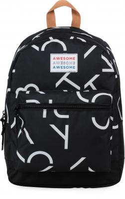 Rugzak Awesome Boys black: 42x30x16 cm