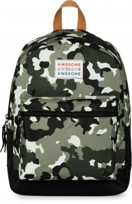 Rugzak Awesome Boys green: 42x30x16 cm