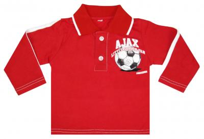 Baby polo ajax longsleeves rood little soccer fan maat 86/92