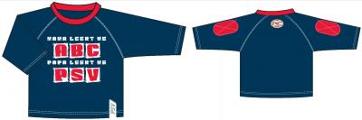Baby t-shirt psv longsleeves donkerblauw: ABC maat 98/104
