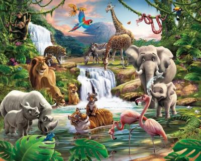 Behang jungle avontuur Walltastic: 245x305 cm