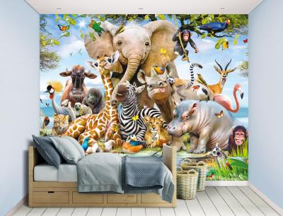 Behang Jungle Safari Walltastic: 245x305 cm