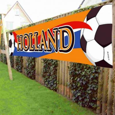 Banner holland oranje: Holland 370x60 cm