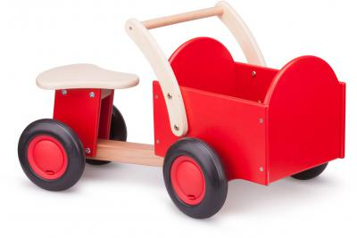 Bakfiets New Classic Toys: rood/blank 37x63x28 cm(11400)