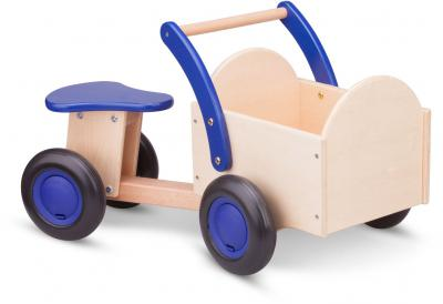 Bakfiets New Classic Toys: blauw/blank 37x63x28 cm(11403)