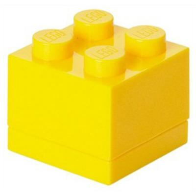 Opbergbox Lego MINI: brick 4 geel