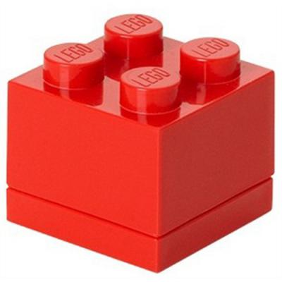 Opbergbox Lego MINI: brick 4 rood