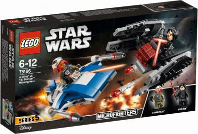 A-wing vs TIE Silencer microfighters Lego (75196)