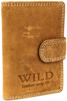 Creditcardhouder leder Wild donkerbruin: 8x2x11 cm (RS-CHL-18-15)