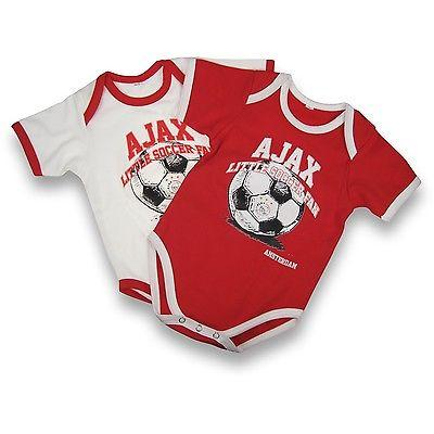 Ajax Rompertjes 2-Pack 50-56 Little Soccer Fan