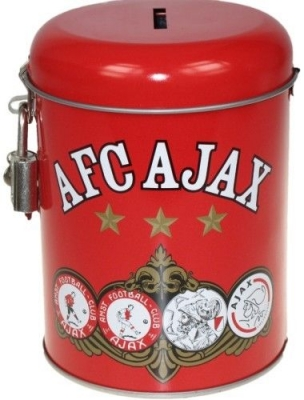 Ajax Spaarpot Rood Vier Logo Four Logo Money Box Kasse Huchas!