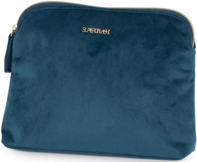 Make-up tas Supertrash blue: 23x17x4 cm (192STG832.25)