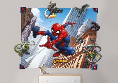 Behang Spider-Man 3d Walltastic: 121x152x15 cm (44586)