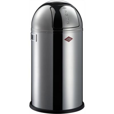 Wesco Pushboy 50l RVS hoogglans